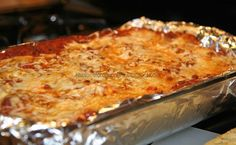Baked Spaghetti....and it was delicious!            I baked cheesy garlic bread to serve with it.  The kids had seconds...so I know it was g...