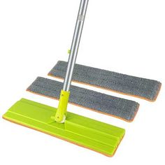 Home-X Use Wet or Dry Set of 2 Reusable Microfiber Mop Pads Safe on all Hard Surfaces Floors and Walls