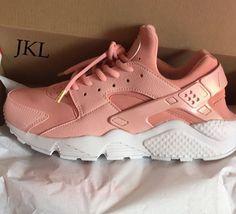 Rose Gold PEARL Nike Air Huarache weiss alleiniger von JKLcustoms