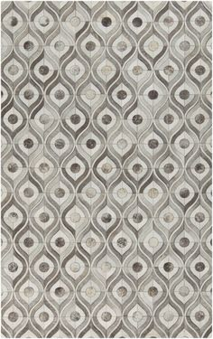 Beautiful all natural rug made from leather with geometric pattern. Perfect for adding texture and pattern to your space.
