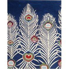 Safavieh SOH709A Soho Wool Hand Tufted Blue/Ivory Rug