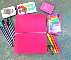 A5 pink domino for a study folder instead of lots of notebooks! Next semester...