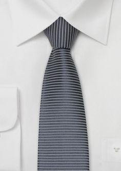 Krawatte anthrazit silber gerade