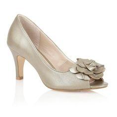 Lotus Light gold 'Belinda' peep toe shoes- at Debenhams.ie
