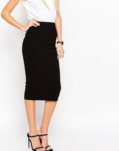 ASOS | ASOS High Waist Longerline Pencil Skirt at ASOS