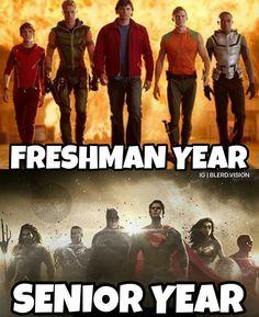 Batman don't have a freshman year cus he is Batman (¬_¬)ノ