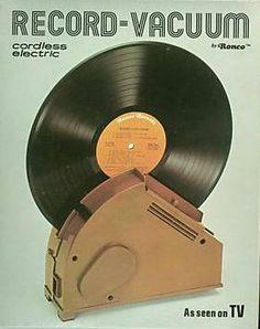 Ronco Record-Vacuum : vu à la télé ! Vintage Music, Vintage Ads, Nostalgia, Retro Cafe, Old Advertisements, Advertising, Record Players, Cordless Vacuum, Thing 1