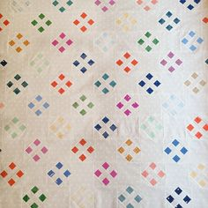 Sometimes I make all these complicated quilts and forget how sweet and simple they could be instead Polka Dot Quilts, Nine Patch Quilt, Easy Quilts, Scrappy Quilts, Crochet Quilt, Vintage Quilts, Quilting Designs, Quilt Design, Quilting Ideas