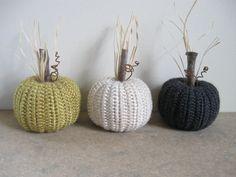 Fall Decor Crocheted Pumpkins Autumn Decor Pumpkin Decor by dlf724