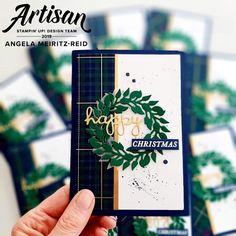 Christmas Card Crafts, Stampin Up Christmas, Christmas Tag, Christmas Themes, Handmade Christmas, Holiday Cards, Christmas Wreaths, Christmas Cards, Christmas 2019