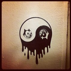 Felix the Cat yin and yang
