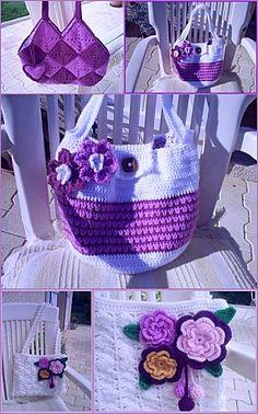Crochet bag #2 with diagram