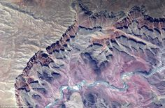 The Colorado river can clearly be seen in this image taken by Italian astronaut Paolo Nespoli in 2010