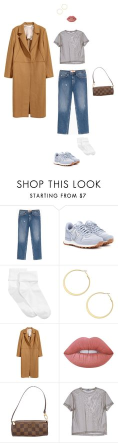 """""""Camel Coats"""" by anichch ❤ liked on Polyvore featuring Max&Co., NIKE, HUE, BCBGeneration, H&M, Lime Crime, Louis Vuitton and Jil Sander"""