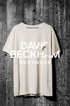Perfect neutrals for a versatile masculine wardrobe. Light beige cotton t-shirt, Bodywear Selected by Beckham collection. | H&M For Men