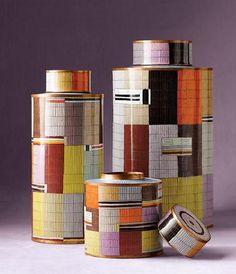 Fabulous and intricate cloisonne tea caddies by Fabienne Jouvin, France. Contemporary.