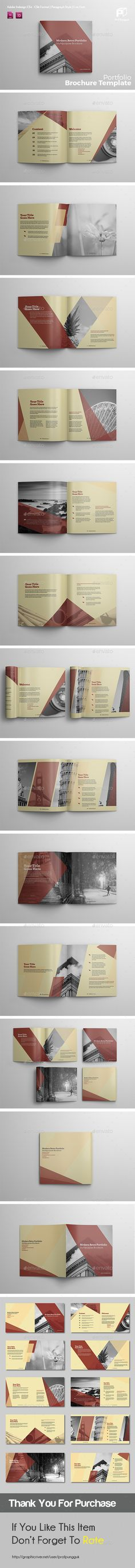Square Brochure Vol.3 — InDesign INDD #color #Multipurpose Brochure • Available here → https://graphicriver.net/item/square-brochure-vol3/17893465?ref=pxcr