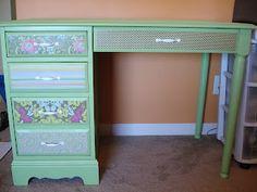 add greek design with wood trim to a plain dresser | furniture