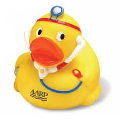 Raise health awareness with this doctor rubber duck! Wearing a stethoscope and light, our ducks get noticed wherever they go! This is the perfect promotional product for hospitals, pediatricians or any healthcare event! This item can be ordered as blank stock or can be customized to your specifications to create a one of a kind product that is sure to be the hit of your next fundraising event or campaign! A great way to promote any event!