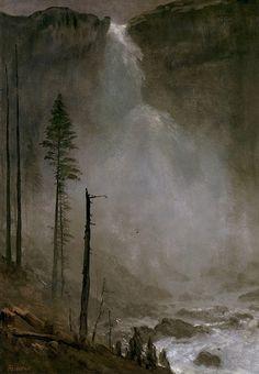 Nevada Falls | Albert Bierstadt | oil painting #americanlandscapes