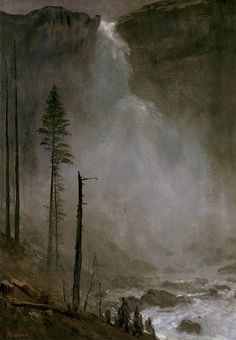 The Athenaeum - Nevada Falls (Albert Bierstadt - )