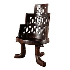 """Authentic Period """"Jimma"""" Chair from Oromia, Ethiopia Recycled Furniture, Cool Furniture, African Interior Design, African Furniture, Old Sofa, Art Carved, Tropical Decor, Ethiopia, African Art"""