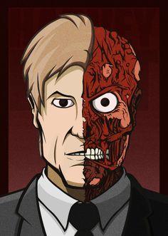 Harvey Dent - Two Face by reZed93