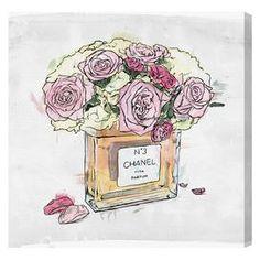 Flower Vase Canvas Print, Oliver Gal
