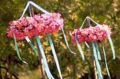 This would make a great centerpiece for either a wedding or baby shower in the appropriate colors.