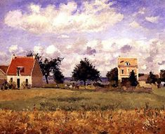The Red House, 1873 - Camille Pissarro - WikiArt.org