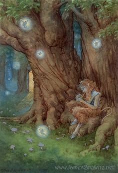 Satyr, Song of Everland -James Browne Forest Creatures, Magical Creatures, Curious Creatures, Fantasy Kunst, Fantasy Art, Fantasy Trees, Fairy Land, Fairy Tales, Art Rupestre