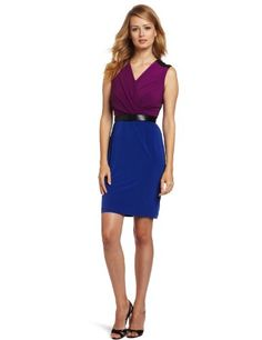 Calvin Klein Women's Belt Twofer Dress « Holiday Adds