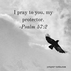 I pray to you my protector. -Psalm 57:2 #Prayer