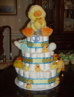 Ducky Diaper Cake by ABarrett, via Flickr