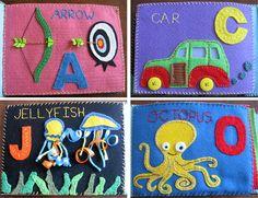stitched felt alphabet book