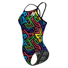 NEW! A3 Kraze Color Xback Training Suit! It's the Xback style you know and love, but now in new, fun prints and colors! 82% Polyester, 18% Elastane.
