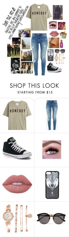 """""""Join the Herd"""" by queenrebel0630 ❤ liked on Polyvore featuring Zoe Karssen, Ted Baker, Converse, Lime Crime, Marcelo Burlon, Anne Klein and Illesteva"""