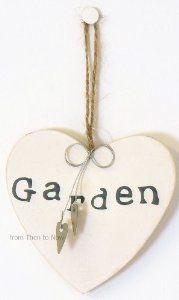 Gisela Graham Chic & Shabby Rustic Garden Wooden Heart Sign from Gisela Graham at the Gisela Graham UK shop £1.99