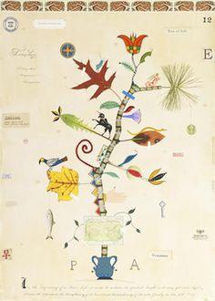 """Tree of Life Pennsylvania"".  Botanical Visions, The Art of MF Cardamone at Morris Arboretum of the University of Pennsylvania in Philadelphia"