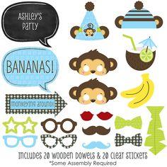 Monkey Boy - Baby Shower Photo Booth Props Kits - BabyShowerStuff.com