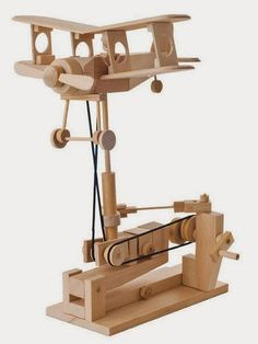 Woodworking Projects For Kids A wooden kit for you to build at home- add a powered base for continuous movement Kids Woodworking Projects, Woodworking Toys, Wood Projects, Woodworking Classes, Kits For Kids, Wood Toys, Wood Construction, Craft Kits, Wood Crafts