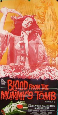 Blood from the Mummy's Tomb, horror movie poster, Hammer Production Studios