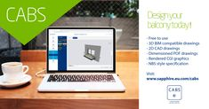 CABS allows you to quickly design your balcony and present it to clients with full NBS specifications, BIM and CAD outputs. CABS makes balcony design easy, try it here Tool Design, Design Process, In A Little While, Temporary Wall, Living Room Trends, Balcony Design, Cad Drawing, Colorful Chairs, Furniture Arrangement