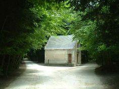 森の白い小屋