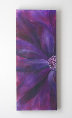 Purple Flower Original Abstract Acrylic Wall Painting by jewel4u, $85.00