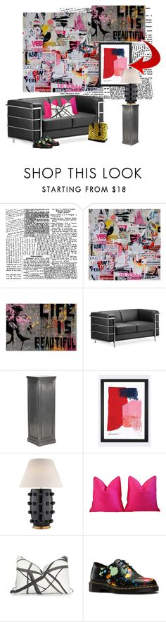 """""""Contemporary Vibe..."""" by kimberlyd-2 ❤ liked on Polyvore featuring interior, interiors, interior design, home, home decor, interior decorating, Trademark Fine Art, Zuo, iCanvas and Kelly Wearstler"""