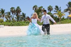Disney Cruise Just Married and Trash the Dress Session: Amanda + Milton - LOVE the petticoat color!