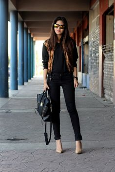 Sunday ootd - fake leather blog