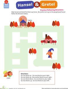 Worksheets: Locations, Locations! Hansel & Gretel