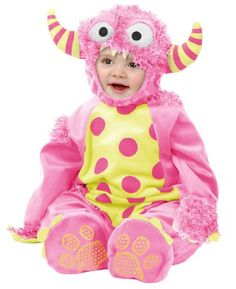 $32Amazon.com: Charades Newborn Infant Baby Cute Pink Monster Halloween Costume: Clothing